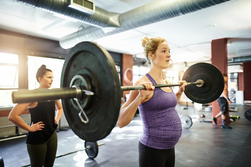 intense exercise during pregnancy
